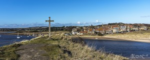 St Cuthberts Cross overlooking Alnmouth